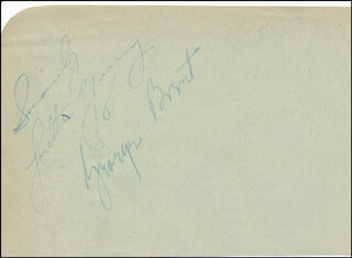 GEORGE BRENT - AUTOGRAPH SENTIMENT SIGNED CO-SIGNED BY: LORETTA YOUNG