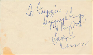 DYAN CANNON - AUTOGRAPH NOTE SIGNED