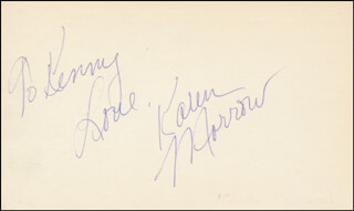 KAREN MORROW - AUTOGRAPH NOTE SIGNED