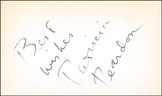 PATRICIA PEARDON - AUTOGRAPH SENTIMENT SIGNED