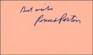 RONALD ROSTON - AUTOGRAPH SENTIMENT SIGNED