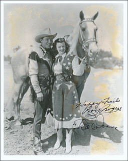TRIGGER, JR. MOVIE CAST - AUTOGRAPHED SIGNED PHOTOGRAPH CO-SIGNED BY: DALE EVANS, ROY ROGERS