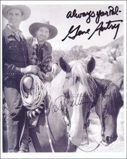 THE GENE AUTRY SHOW TV CAST - AUTOGRAPHED SIGNED PHOTOGRAPH CO-SIGNED BY: GENE AUTRY, PAT BUTTRAM
