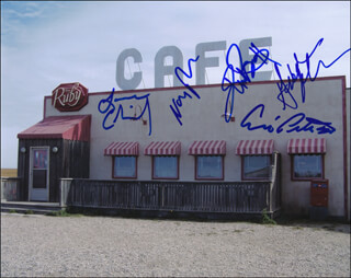 CORNER GAS TV CAST - AUTOGRAPHED SIGNED PHOTOGRAPH CO-SIGNED BY: BRENT BUTT, GABRIELLE MILLER, ERIC PETERSON, LORNE CARDINAL, NANCY ROBERTSON