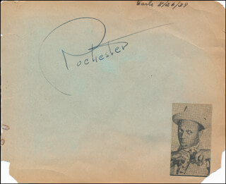 Autographs: EDDIE ROCHESTER ANDERSON - SIGNATURE IN CHARACTER CIRCA 1939