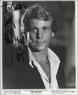 RYAN O'NEAL - AUTOGRAPHED INSCRIBED PHOTOGRAPH 1985