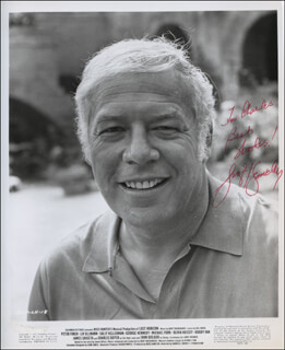 GEORGE KENNEDY - INSCRIBED PRINTED PHOTOGRAPH SIGNED IN INK