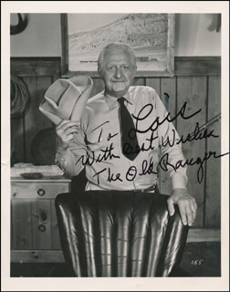 STANLEY THE OLD RANGER ANDREWS - INSCRIBED PHOTOGRAPH SIGNED IN CHARACTER