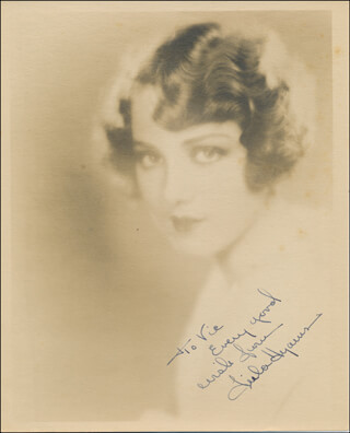 LEILA HYAMS - AUTOGRAPHED INSCRIBED PHOTOGRAPH