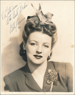 BETTY FURNESS - AUTOGRAPHED INSCRIBED PHOTOGRAPH 1944