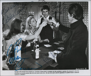 Autographs: BOB & CAROL & TED & ALICE MOVIE CAST - PHOTOGRAPH SIGNED CO-SIGNED BY: ROBERT CULP, NATALIE WOOD, ELLIOTT GOULD, DYAN CANNON