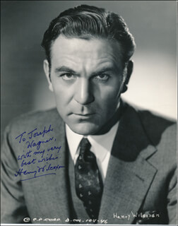 HENRY WILCOXON - AUTOGRAPHED INSCRIBED PHOTOGRAPH