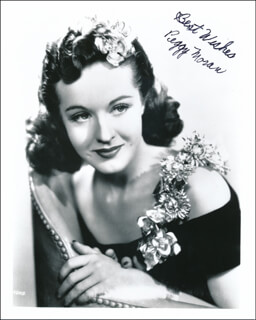 PEGGY MORAN - AUTOGRAPHED SIGNED PHOTOGRAPH