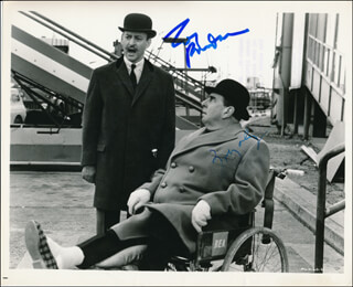 THE ALPHABET MURDERS MOVIE CAST - AUTOGRAPHED SIGNED PHOTOGRAPH CO-SIGNED BY: ROBERT MORLEY, TONY RANDALL
