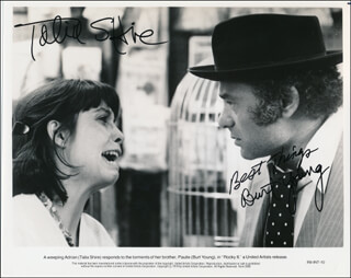 ROCKY II MOVIE CAST - AUTOGRAPHED SIGNED PHOTOGRAPH CO-SIGNED BY: BURT YOUNG, TALIA SHIRE