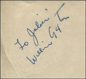 WILLIAM GAXTON - INSCRIBED SIGNATURE