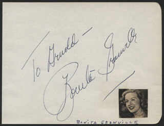 BONITA GRANVILLE - INSCRIBED SIGNATURE
