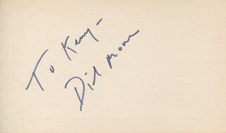 DICKIE MOORE - INSCRIBED SIGNATURE