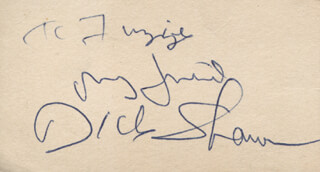 DICK RICKY SHAWN - AUTOGRAPH NOTE SIGNED