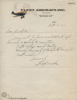 MAJOR GENERAL LEIGH WADE - AUTOGRAPH LETTER SIGNED 10/13/1930