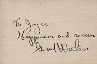 GRANT WITHERS - AUTOGRAPH NOTE SIGNED