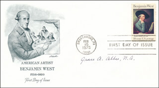 Autographs: GRACE A. ALBEE - FIRST DAY COVER SIGNED