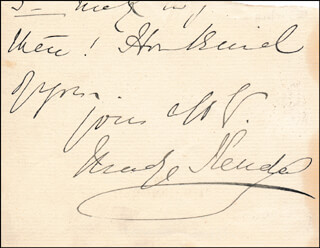 MADGE KENDAL - AUTOGRAPH SENTIMENT SIGNED