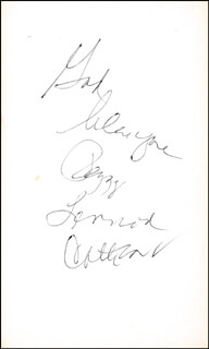 THE LENNON SISTERS (PEGGY LENNON) - AUTOGRAPH NOTE SIGNED