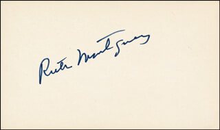 RUTH MONTGOMERY - AUTOGRAPH