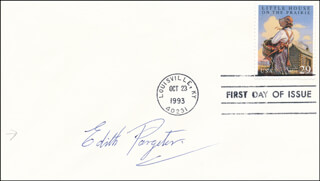 EDITH ELLIS PETERS PARGETER - FIRST DAY COVER SIGNED