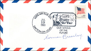 SIR NORMAN BREARLEY - FIRST DAY COVER SIGNED