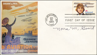NONA MALLOY GOARD - FIRST DAY COVER SIGNED