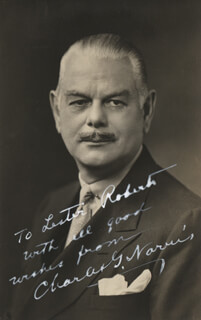 CHARLES G. NORRIS - AUTOGRAPHED INSCRIBED PHOTOGRAPH