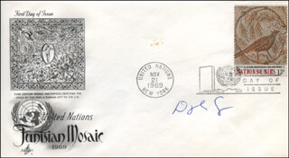 DOUGLAS COOPER - FIRST DAY COVER SIGNED