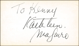 KATHLEEN MAGUIRE - INSCRIBED SIGNATURE