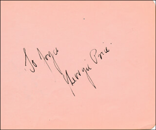GEORGIE PRICE - INSCRIBED SIGNATURE