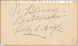 BILLY DE WOLFE - AUTOGRAPH NOTE SIGNED CO-SIGNED BY: SPRING BYINGTON