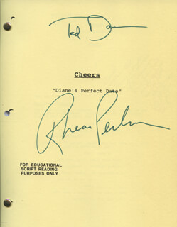CHEERS TV CAST - SCRIPT SIGNED CO-SIGNED BY: TED DANSON, RHEA PERLMAN