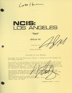 Autographs: NCIS: LOS ANGELES TV CAST - SCRIPT SIGNED CO-SIGNED BY: CHRIS O'DONNELL, LINDA HUNT, LL COOL J