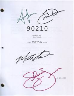 Autographs: 90210 TV CAST - SCRIPT SIGNED CO-SIGNED BY: SHENAE GRIMES, ANNALYNNE MCCORD, TREVOR DONOVAN, MATT LANTER