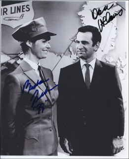 GET SMART TV CAST - AUTOGRAPHED SIGNED PHOTOGRAPH 1999 CO-SIGNED BY: DON ADAMS, BARBARA FELDON