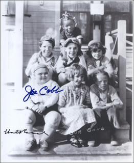 OUR GANG TV CAST - AUTOGRAPHED SIGNED PHOTOGRAPH CO-SIGNED BY: HAL ROACH SR., JOE COBB