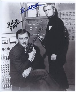 THE MAN FROM U.N.C.L.E. TV CAST - AUTOGRAPHED SIGNED PHOTOGRAPH CO-SIGNED BY: DAVID McCALLUM, ROBERT VAUGHN