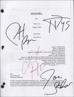 KEVIN HILL TV CAST - SCRIPT SIGNED CO-SIGNED BY: JON SEDA, CHRISTINA HENDRICKS, TAYE DIGGS, PATRICK BREEN