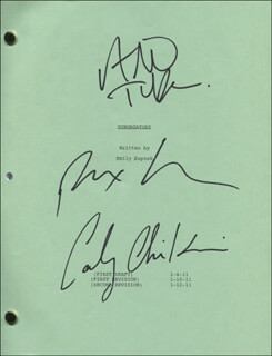 SUBURGATORY TV CAST - SCRIPT SIGNED CO-SIGNED BY: ALAN TUDYK, CARLY CHAIKIN, REX LEE