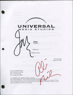KINGS TV CAST - SCRIPT SIGNED CO-SIGNED BY: IAN McSHANE, ALLISON MILLER