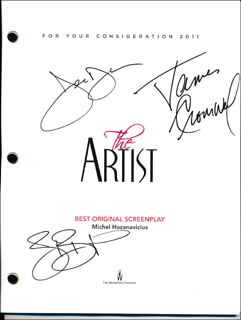 THE ARTIST MOVIE CAST - SCRIPT SIGNED CO-SIGNED BY: JAMES CROMWELL, JEAN DUJARDIN, BERENICE BEJO