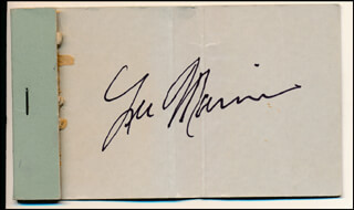 LEE MARVIN - MATCH BOOK SIGNED