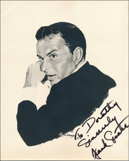 Autographs: FRANK SINATRA - INSCRIBED PRINTED ART SIGNED