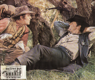 SUPPORT YOUR LOCAL SHERIFF! MOVIE CAST - AUTOGRAPHED SIGNED PHOTOGRAPH CO-SIGNED BY: JACK ELAM, JAMES GARNER